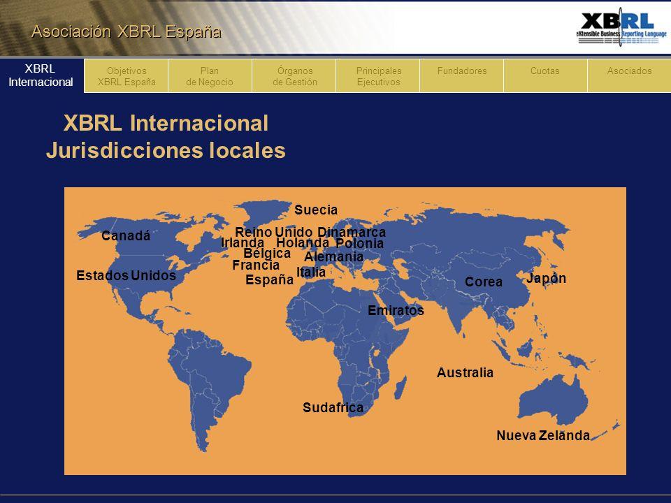 XBRL Internacional Jurisdicciones locales