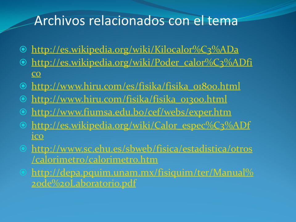 Archivos relacionados con el tema