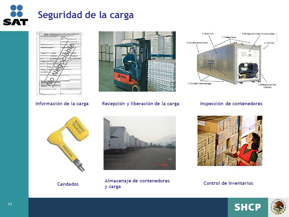 Seguridad de la carga Información de la carga