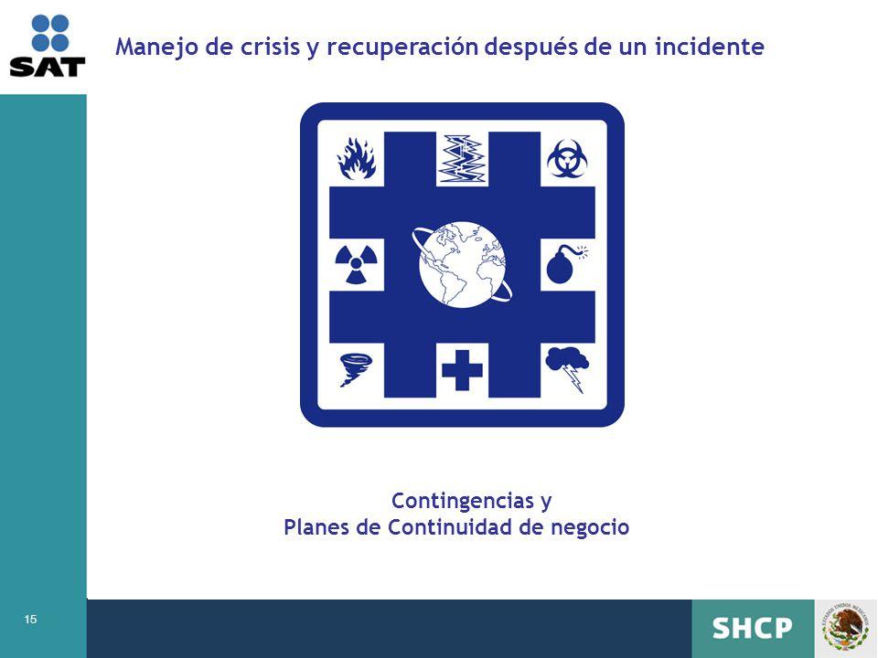 Manejo de crisis y recuperación después de un incidente
