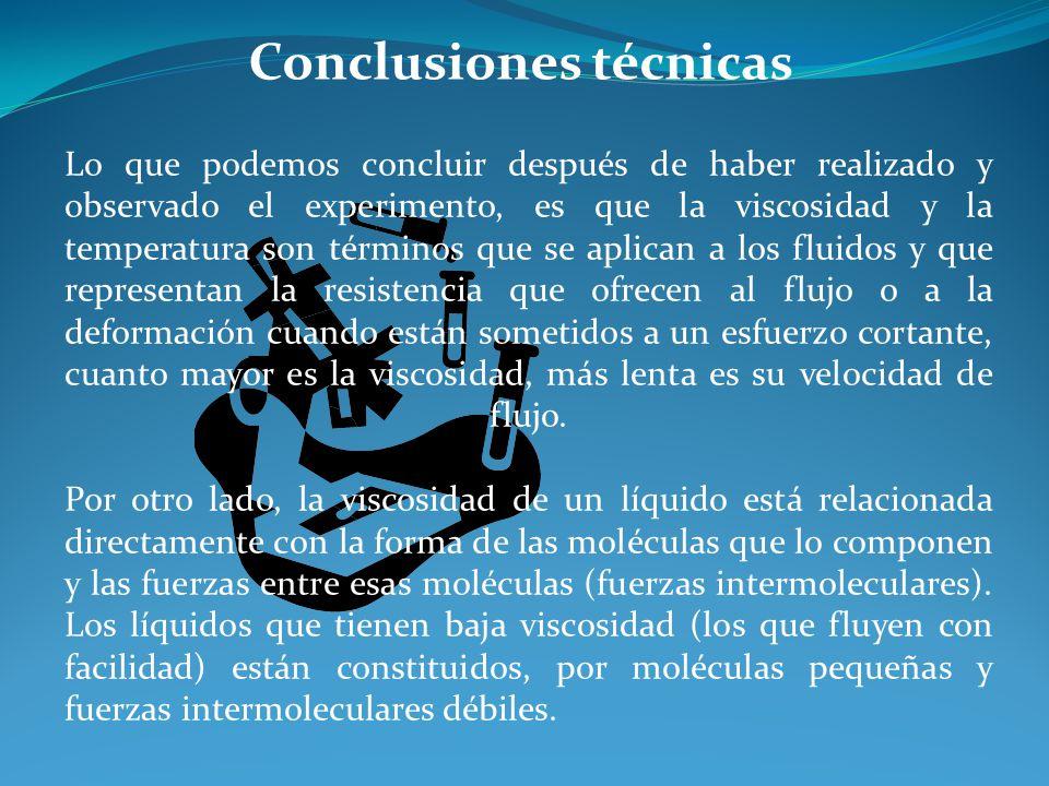 Conclusiones técnicas