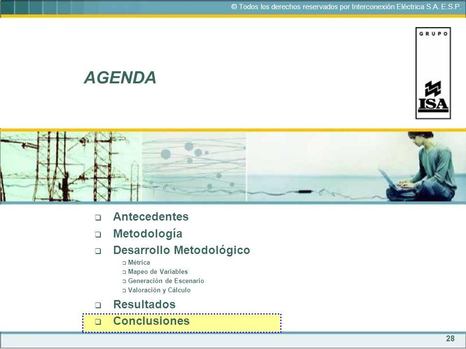 AGENDA Antecedentes Metodología Desarrollo Metodológico Resultados