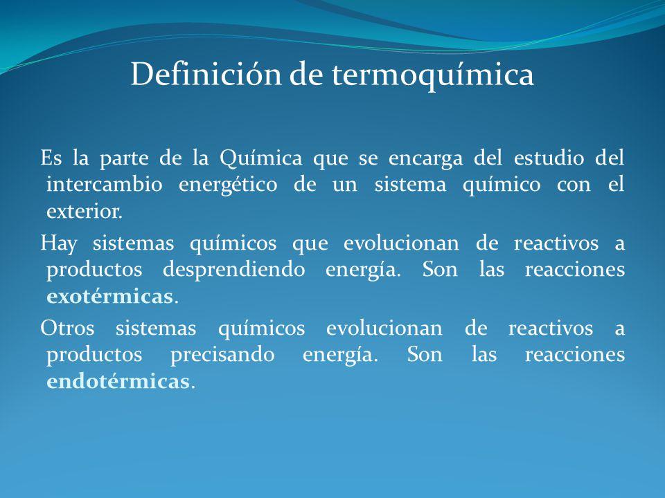 Definición de termoquímica