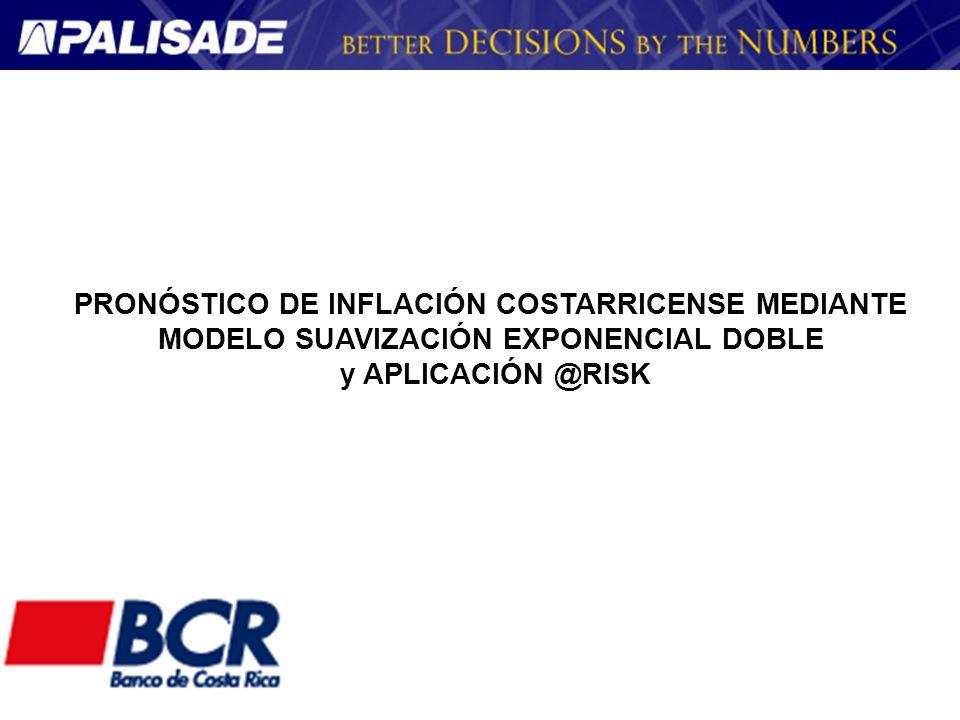 PRONÓSTICO DE INFLACIÓN COSTARRICENSE MEDIANTE