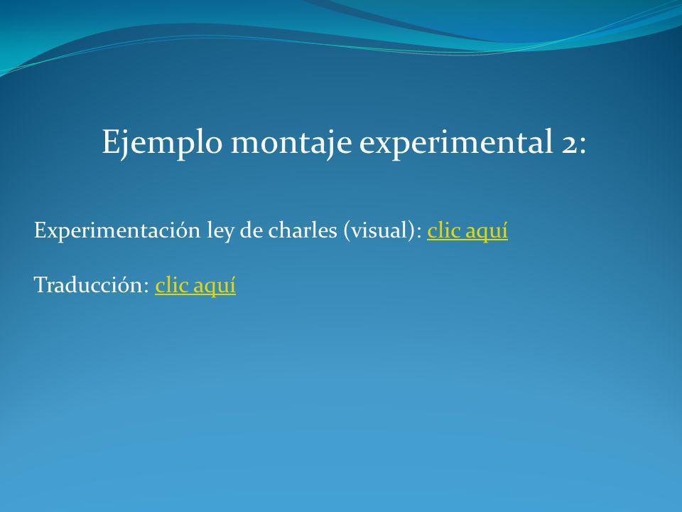 Ejemplo montaje experimental 2: