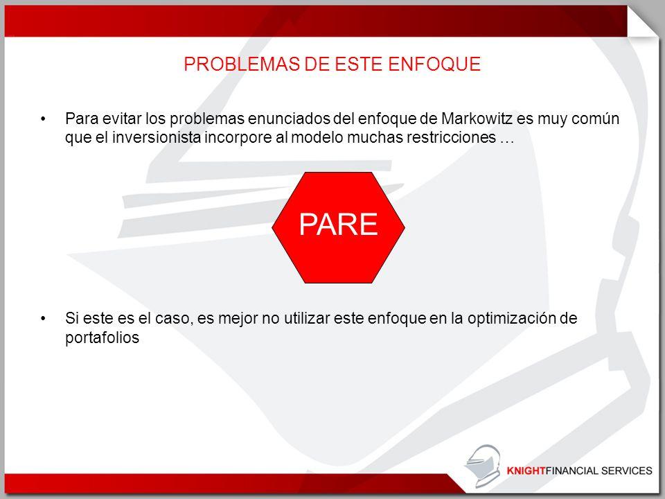 PROBLEMAS DE ESTE ENFOQUE
