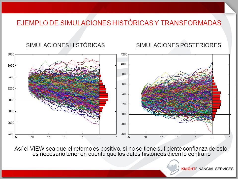 EJEMPLO DE SIMULACIONES HISTÓRICAS Y TRANSFORMADAS