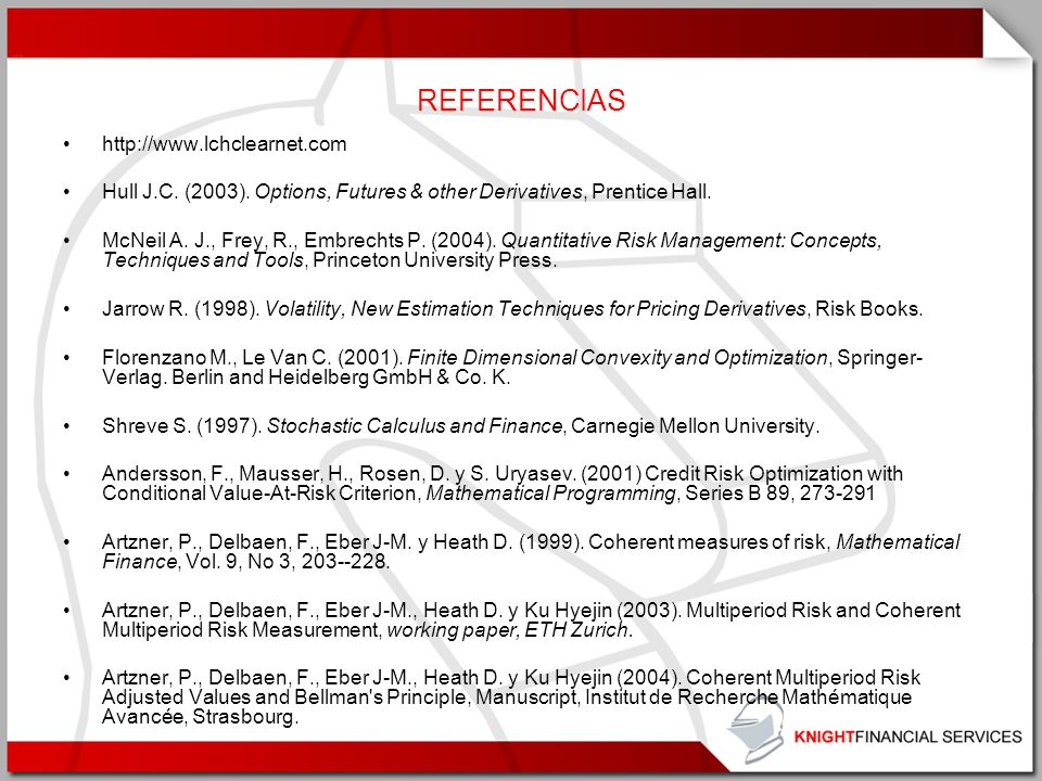 REFERENCIAS http://www.lchclearnet.com