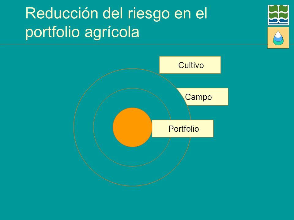 Reducción del riesgo en el portfolio agrícola