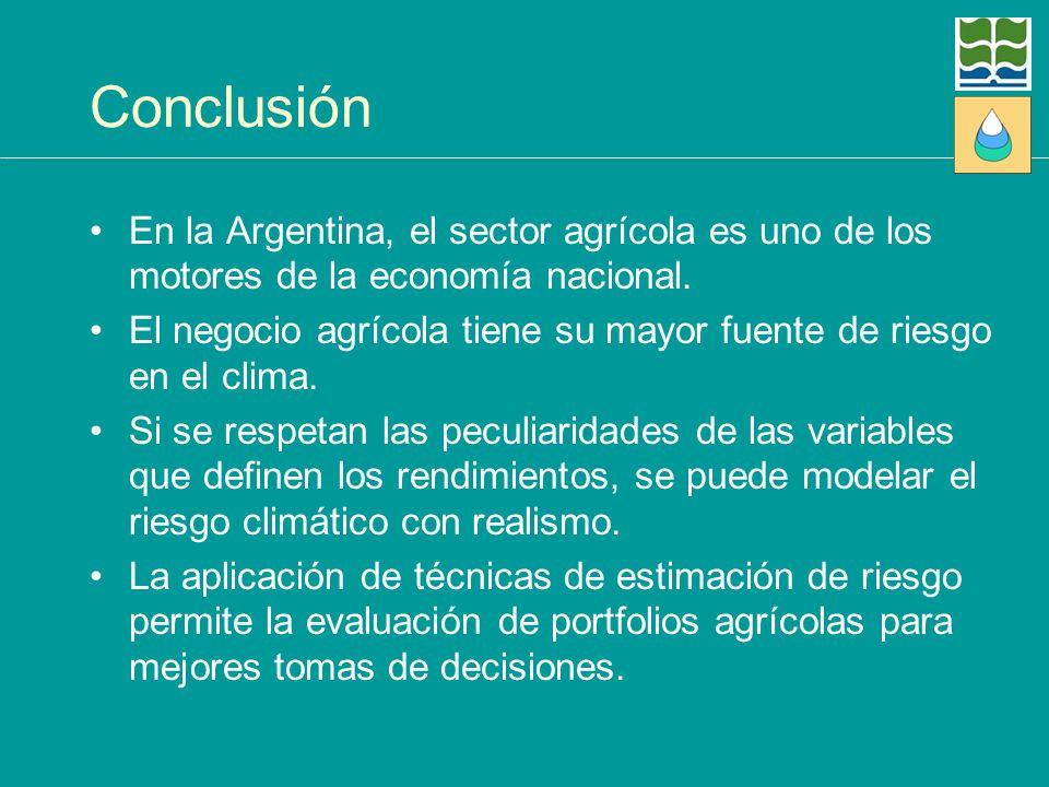 Conclusión En la Argentina, el sector agrícola es uno de los motores de la economía nacional.