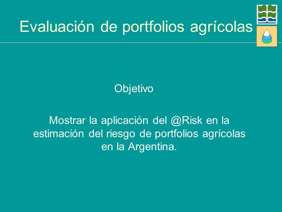 Evaluación de portfolios agrícolas