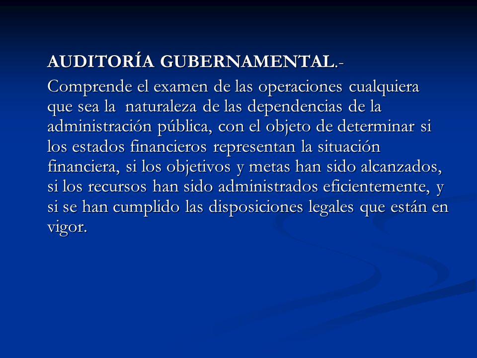 AUDITORÍA GUBERNAMENTAL.-