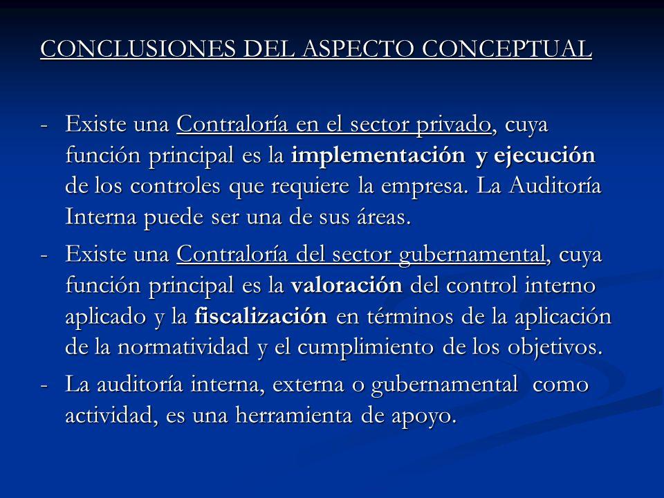 CONCLUSIONES DEL ASPECTO CONCEPTUAL