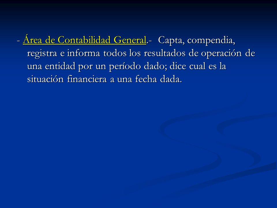 - Área de Contabilidad General