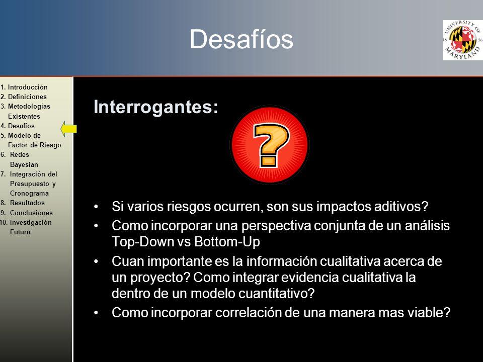 Desafíos Interrogantes: