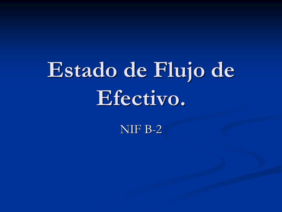 Estado de Flujo de Efectivo.