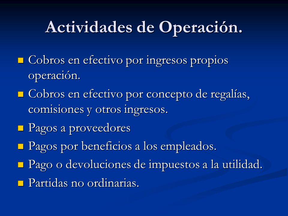 Actividades de Operación.