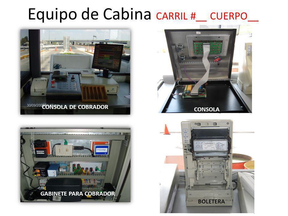 Equipo de Cabina CARRIL #__ CUERPO__