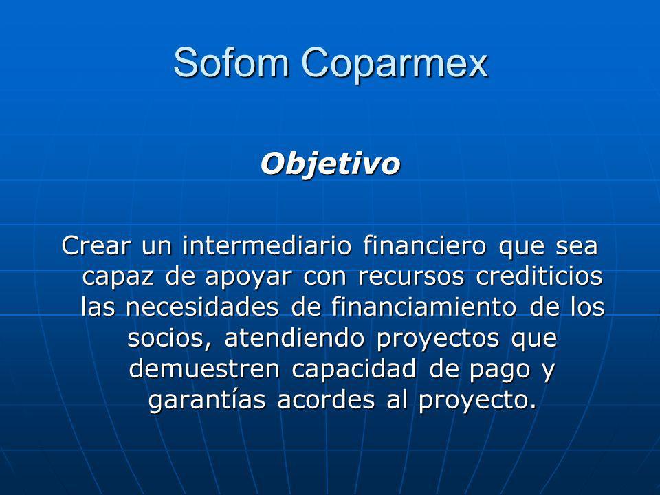 Sofom Coparmex Objetivo