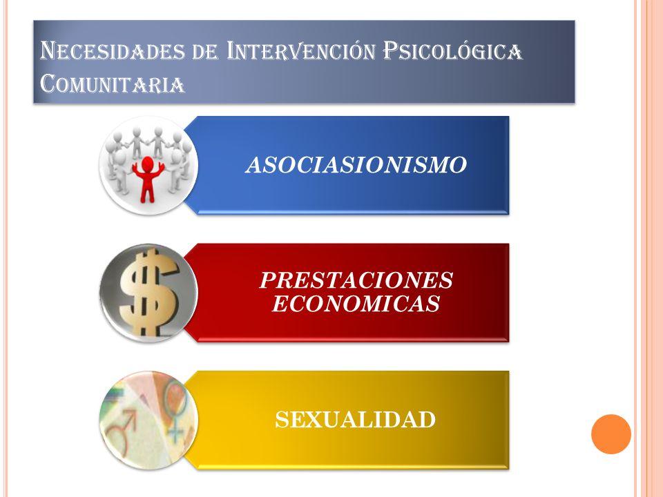 Necesidades de Intervención Psicológica Comunitaria