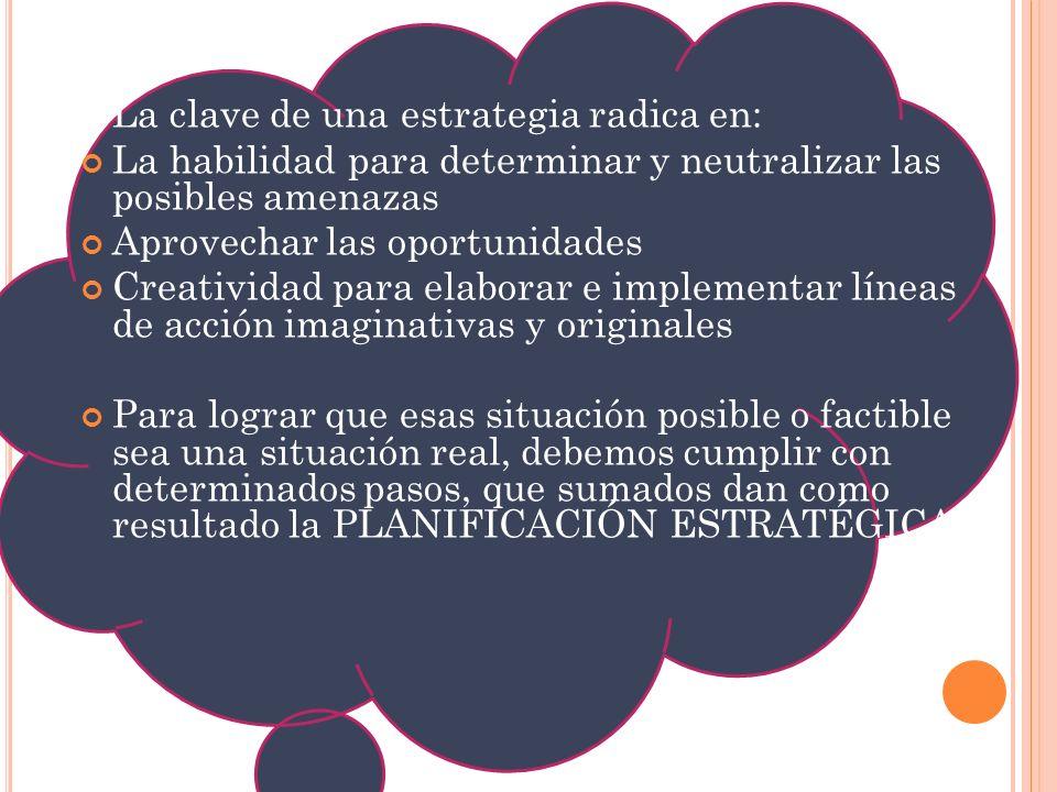 La clave de una estrategia radica en: