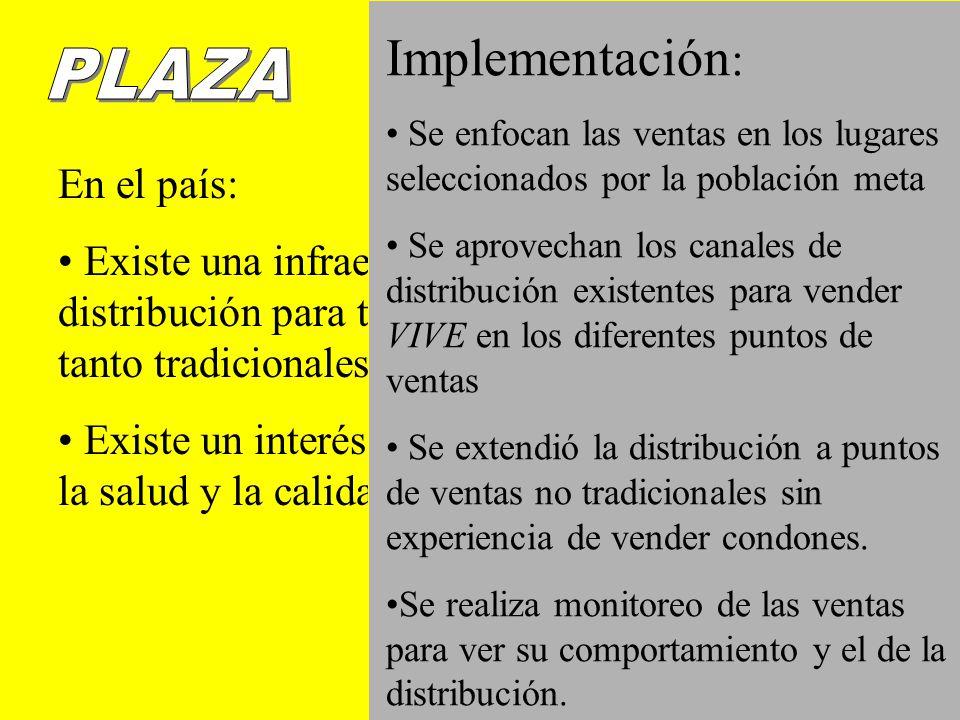 RESULTADOS GENERALES PARA EL PRIMER AÑO DE IMPLEMENTACION