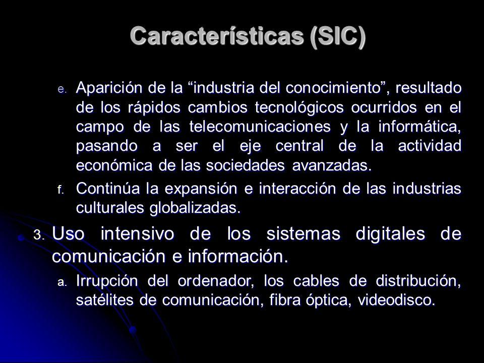 Características (SIC)