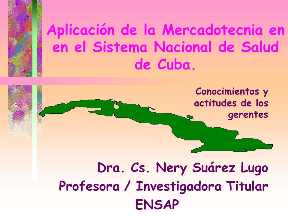 Dra. Cs. Nery Suárez Lugo Profesora / Investigadora Titular ENSAP
