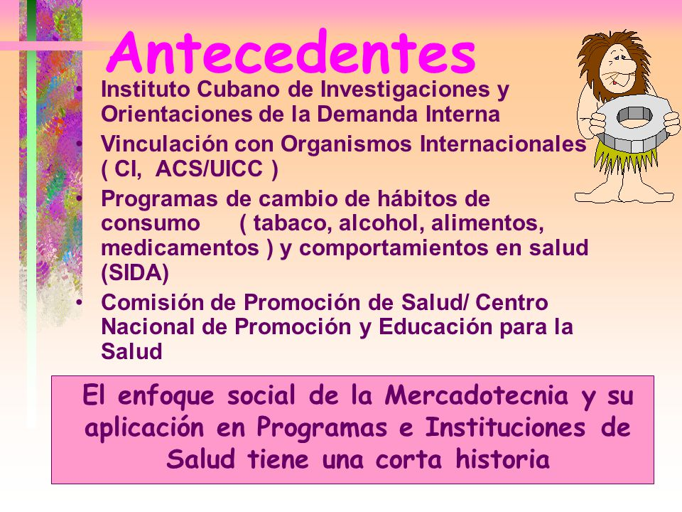 Antecedentes Instituto Cubano de Investigaciones y Orientaciones de la Demanda Interna.