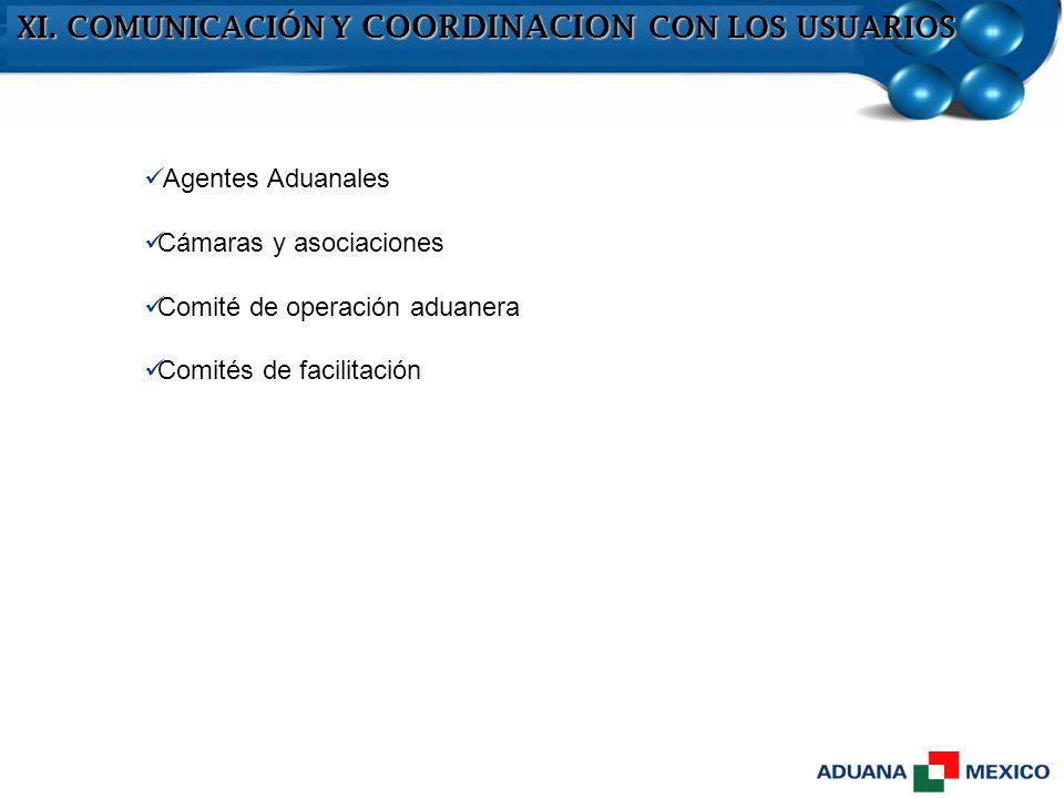 XI. COMUNICACIÓN Y COORDINACION CON LOS USUARIOS