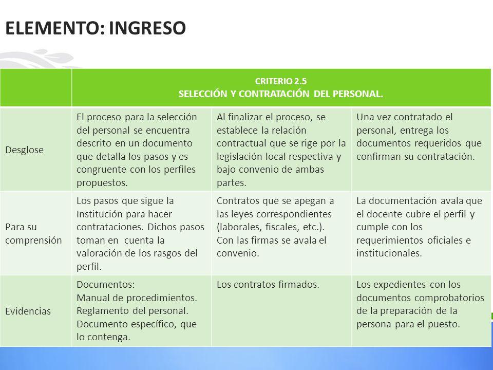 SELECCIÓN Y CONTRATACIÓN DEL PERSONAL.