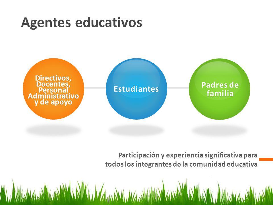 Directivos, Docentes, Personal Administrativo y de apoyo