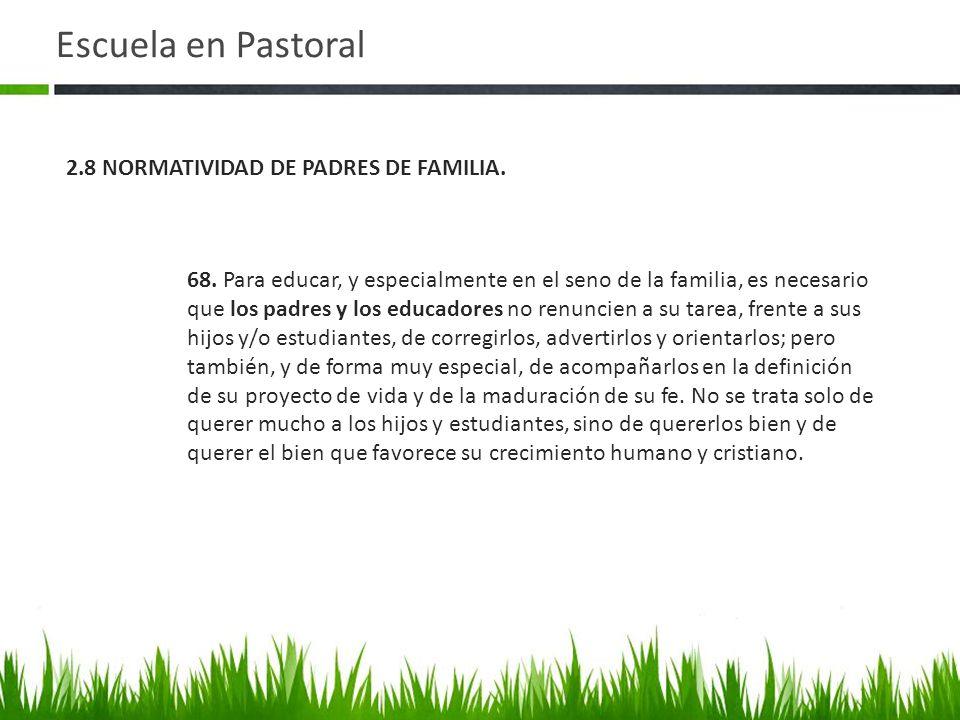 Escuela en Pastoral 2.8 NORMATIVIDAD DE PADRES DE FAMILIA.