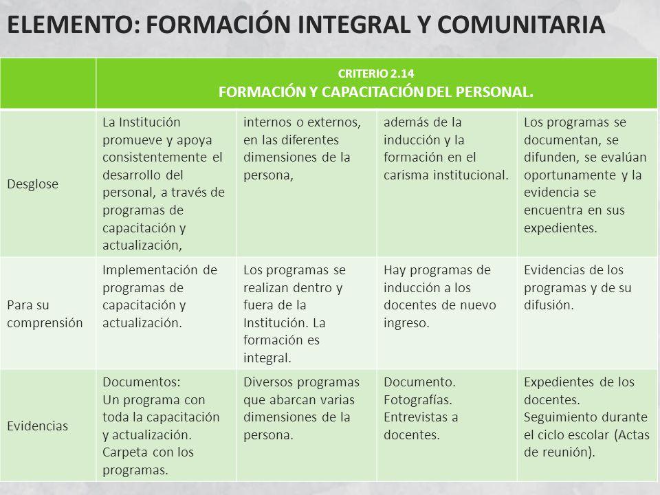 FORMACIÓN Y CAPACITACIÓN DEL PERSONAL.
