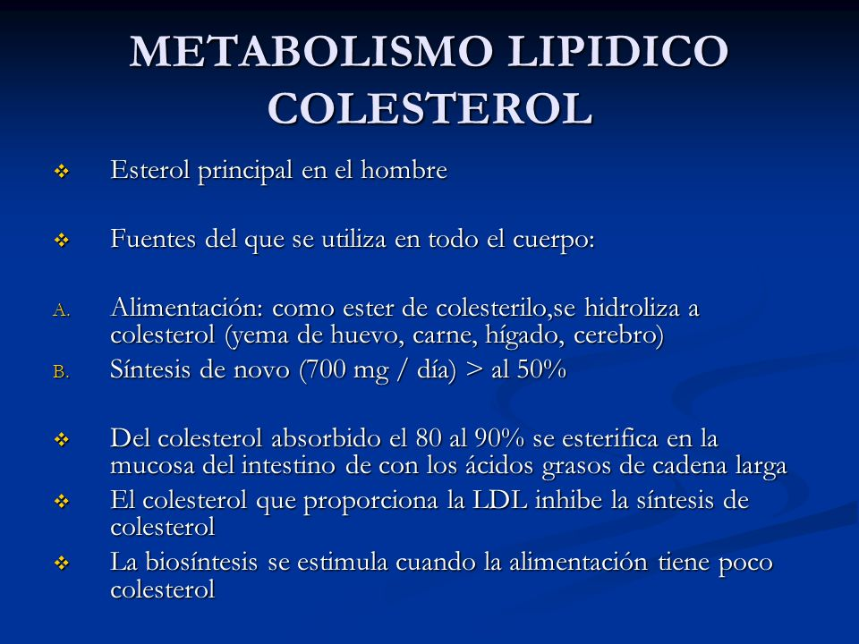 METABOLISMO LIPIDICO COLESTEROL