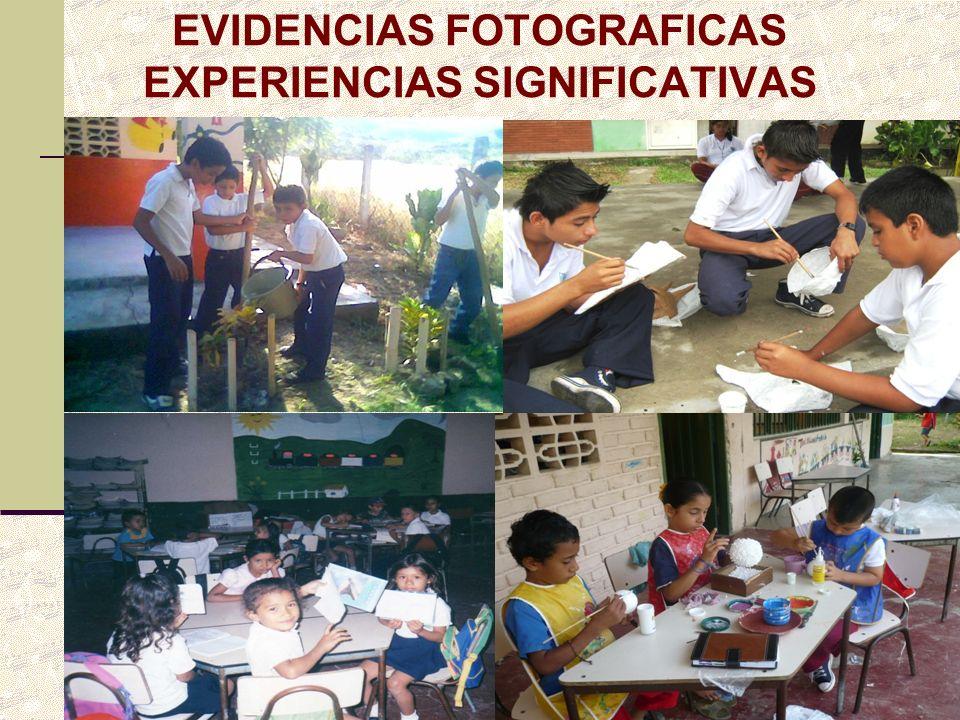 EVIDENCIAS FOTOGRAFICAS EXPERIENCIAS SIGNIFICATIVAS