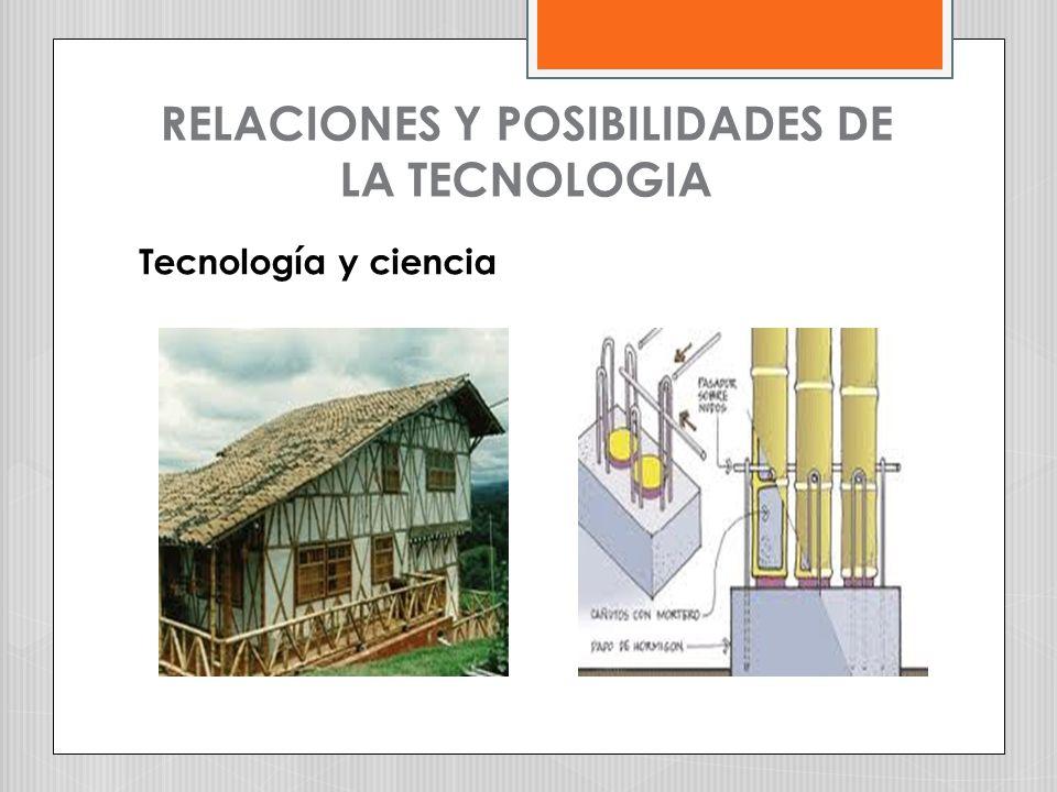 RELACIONES Y POSIBILIDADES DE LA TECNOLOGIA