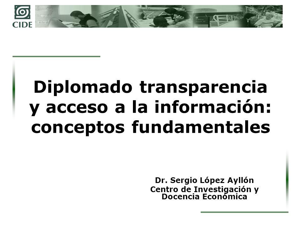 Dr. Sergio López Ayllón Centro de Investigación y Docencia Económica