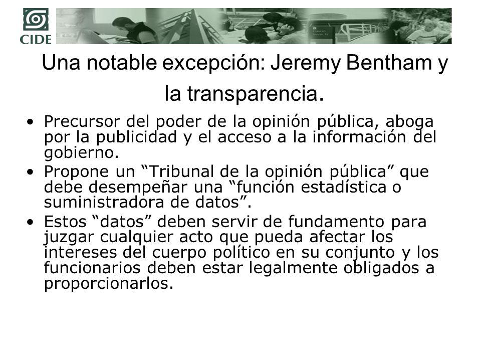 Una notable excepción: Jeremy Bentham y la transparencia.