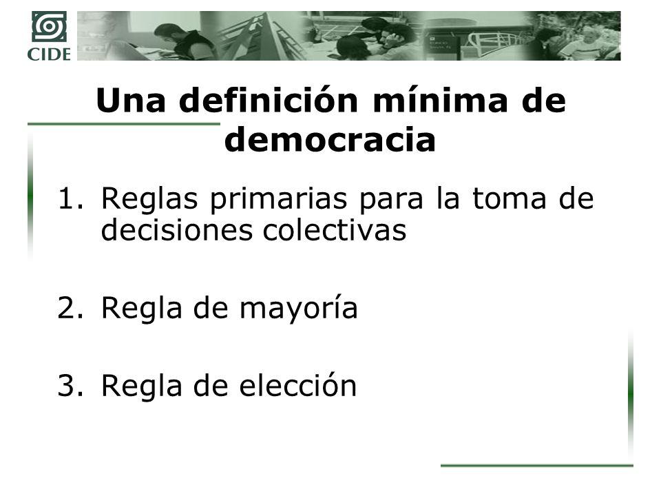 Una definición mínima de democracia
