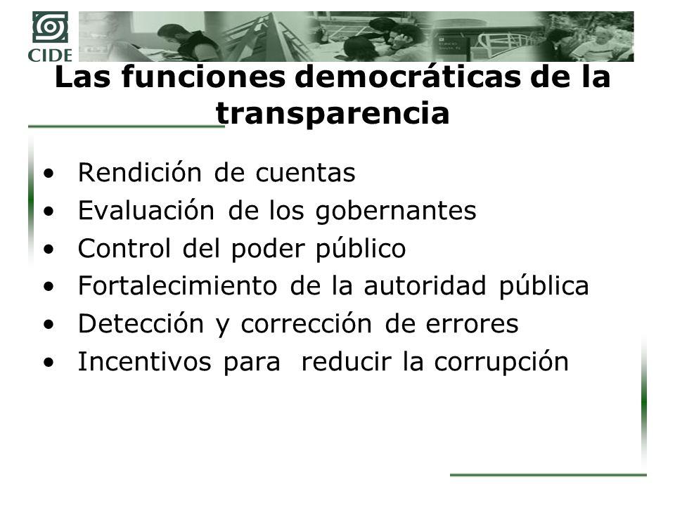Las funciones democráticas de la transparencia