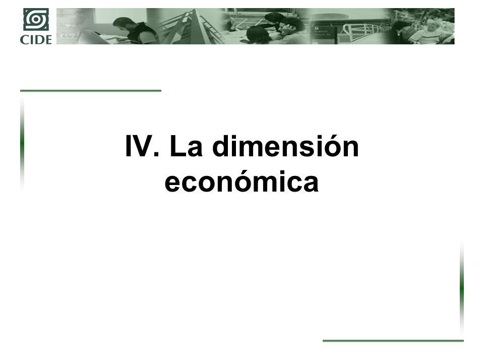 IV. La dimensión económica