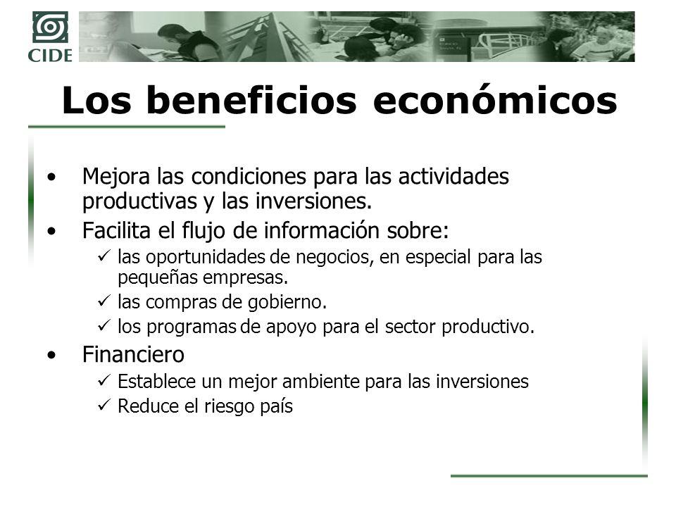 Los beneficios económicos