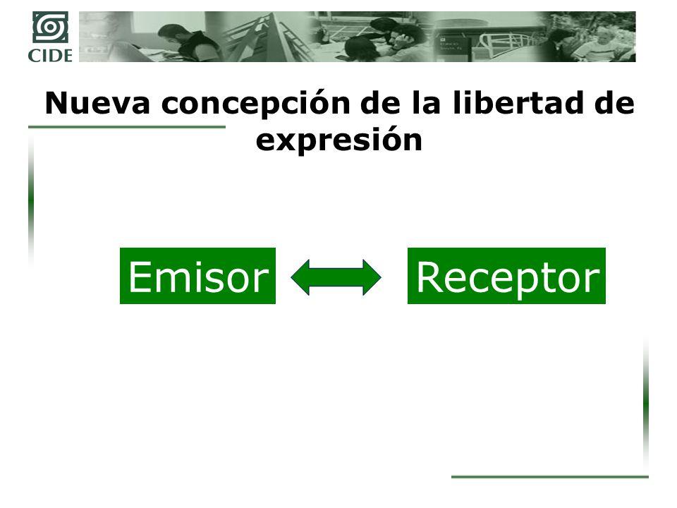 Nueva concepción de la libertad de expresión