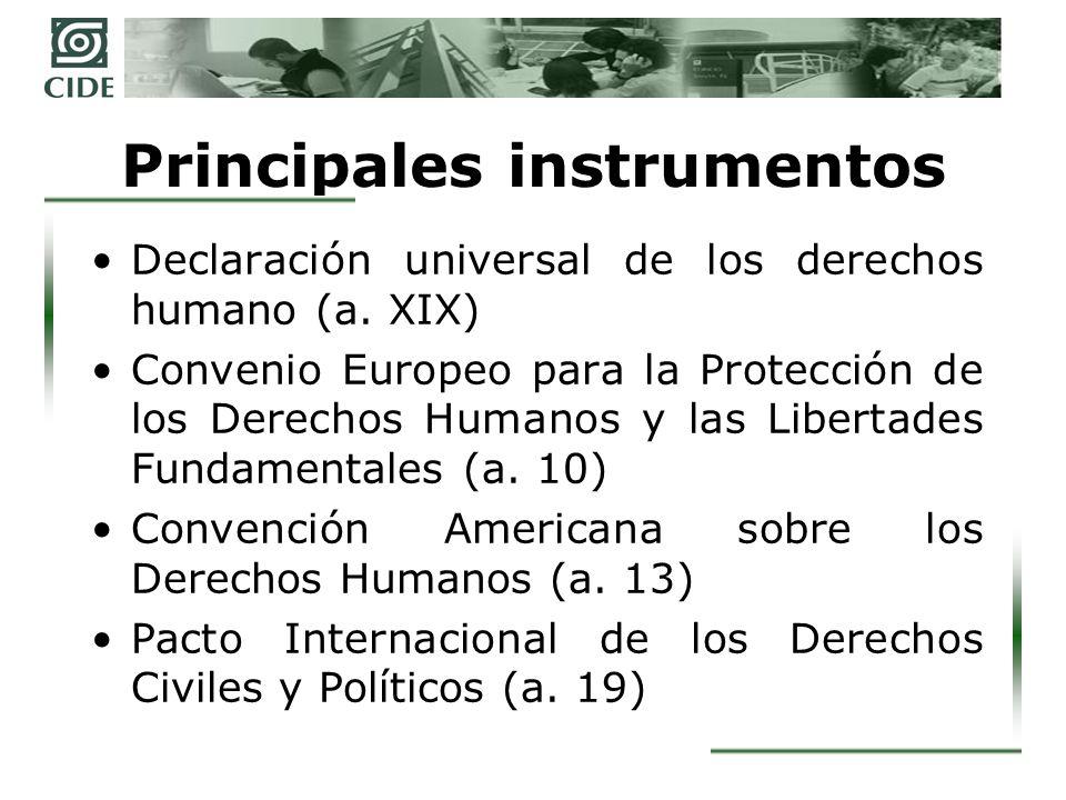 Principales instrumentos