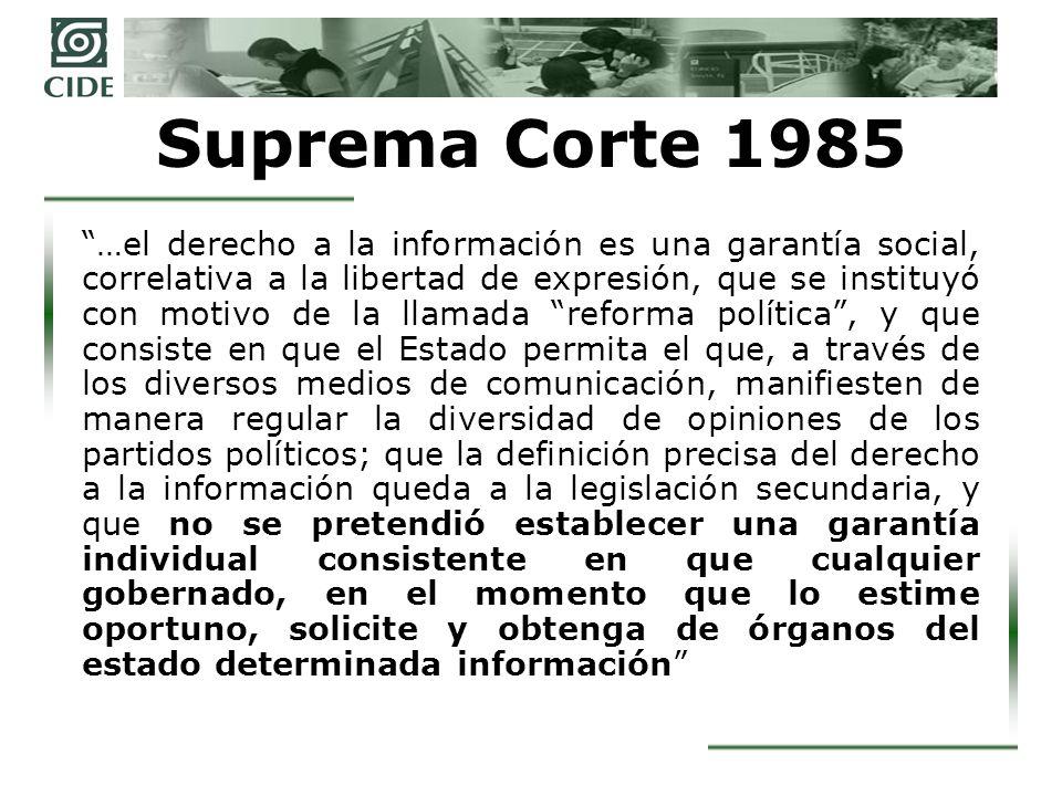 Suprema Corte 1985