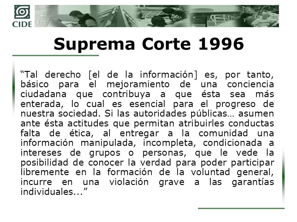 Suprema Corte 1996
