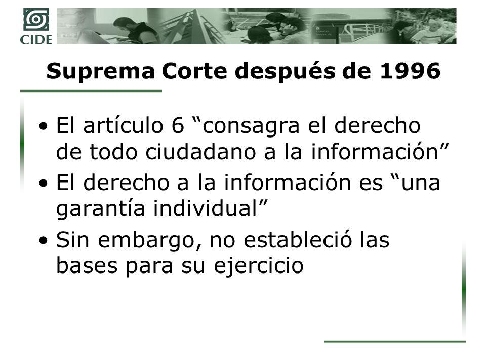 Suprema Corte después de 1996