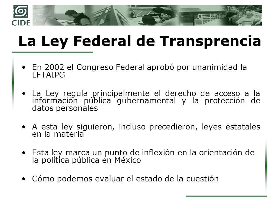 La Ley Federal de Transprencia
