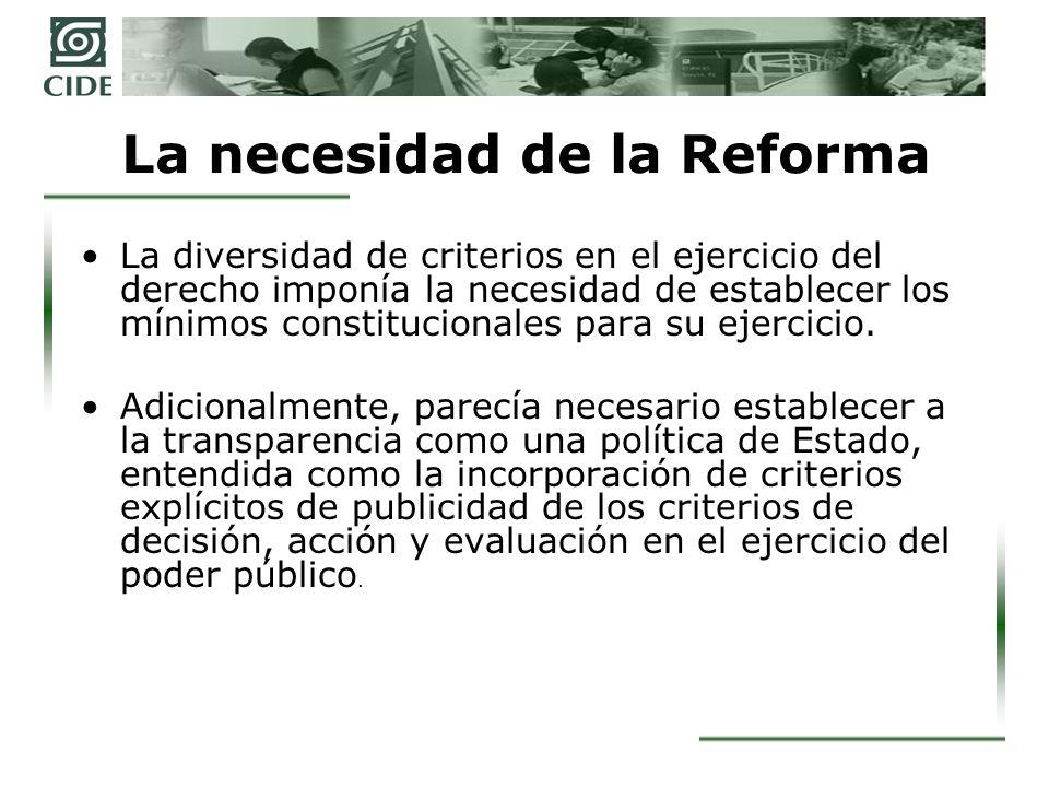 La necesidad de la Reforma